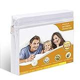 HOVERLY Heavy Bedding Mattress Encasement - Comfort Waterproof Mattress,White,Queen