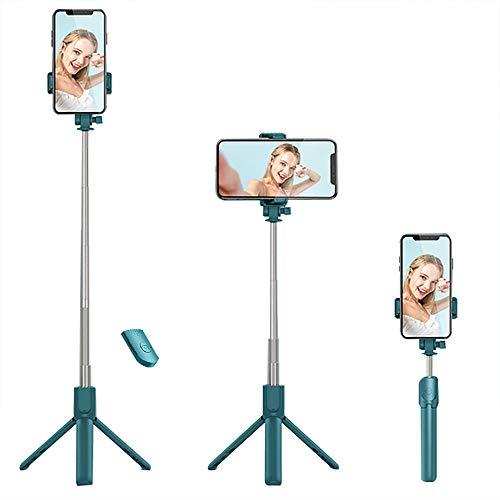 REVERSE Selfie Stick Stativ, 3 in 1 Mini Selfiestick mit Bluetooth-Fernauslöse Handy Erweiterbarer Selfie-Stange und Tragbar Monopod Handyhalter für iPhone/Samsung/Huawei IOS und Android