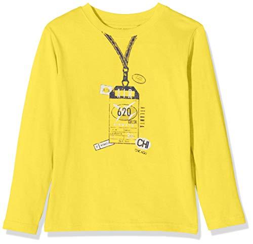 Blue Seven Jungen Langarmshirt mit großem Front-Print Sweatshirt, Gelb (Sun Orig 151), (Herstellergröße: 92)