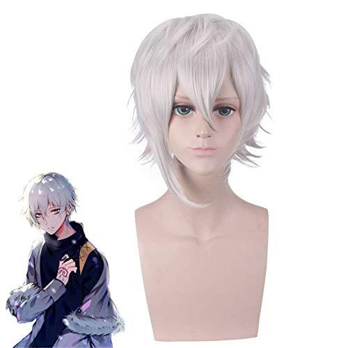Fate Grand Order Kadoc Zemlupus Silver White Peluca corta Cosplay Disfraz Fgo Pelo sinttico resistente al calor Hombres Mujeres Pelucas de cosplay Pl-130