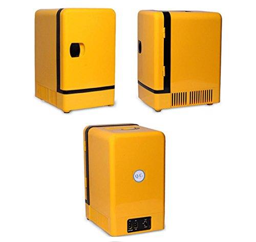 AMYMGLL 7L voiture double réfrigérateur réfrigérateur portable tension réglable 12V voiture maison 220V alimentation 70 (W) ABS coque + aluminium doublure poids 3.4kg taille 35 * 20 * 25 * cm