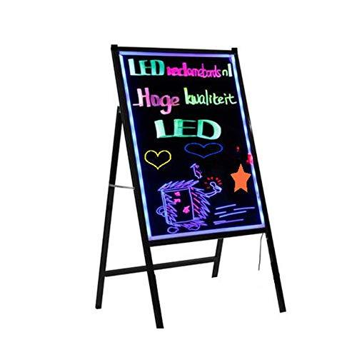 Bacheche messaggi e insegne LED Messaggio Forum, cancellabile LED Disegno Messaggio Advertizing Segno al neon Effetto Ristorante Menu Sign Banco di mostra attività ( Color : Black , Size : 40x60cm )