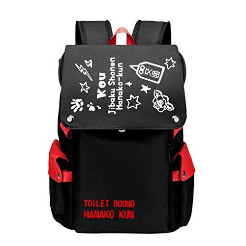 WANHONGYUE Toilet-Bound Hanako-kun Anime Cosplay Rucksack Backpack Mochilas Escolar Bolsa de Escuela Mochila para Portátil 15.6 Pulgadas Rojo / 6