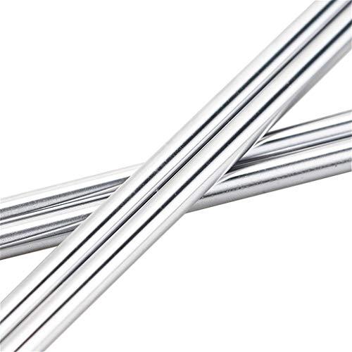 YYOBK Dal 1 Stücke Optische Achse Od 8mm X 200/00/400 / 500mm Zylindereinlagenschiene, Lineare Welle Chrom, Für 3D-Drucker (Size : 200mm)