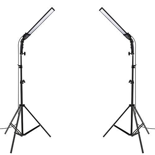 Led Beleuchtung - Verstellbarem Ständer Videolicht 2 Pack Dimmbare Bi-Color LED-Licht 3200k-5500k 192 von YouTube-Studiofotografien Porträt Produktfotografie
