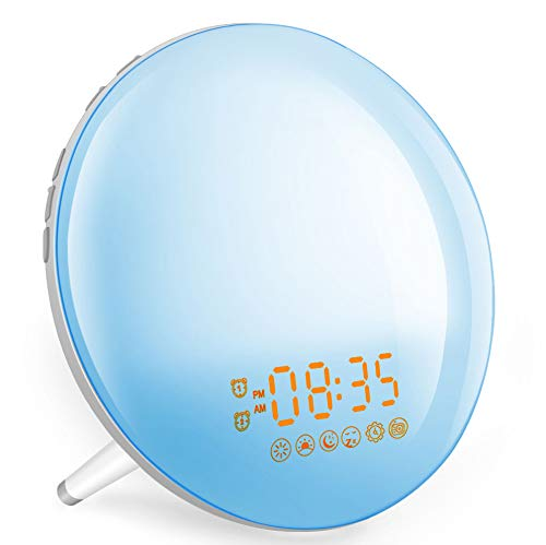 Smart Wake Up Light Despertador Luz - Inteligente Despertadores Wifi Control de Alexa Echo y Google...
