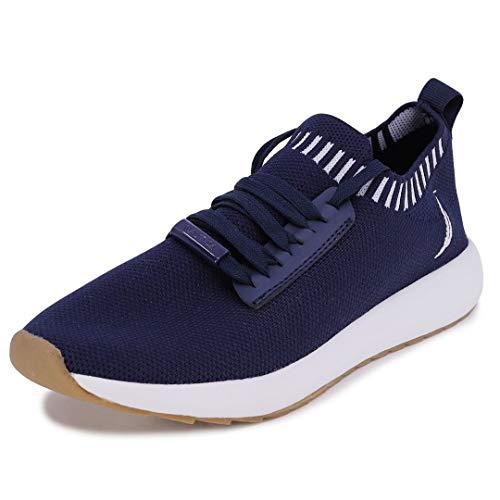 Nautica Women Fashion Sneaker Lace-Up Jogger Running Shoe-Zyla-Navy Knit-8
