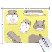 マウスパッド かわいい ハムスター ゴロゴロ 食べる 寝る 高級 ノート パソコン マウス パッド 柔らかい ゲーミング よく 滑る 便利 静音 携帯 手首 楽