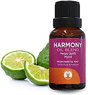 HARMONY Essential Oil Blend - Oils for Mind Body and Spirit - Save With GuruNanda Essential Oil Synergy Blend - 100% Pure Therapeutic Grade - Undiluted - 15 ml