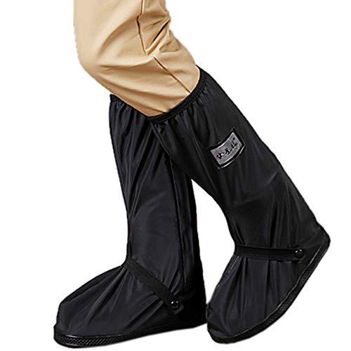 Fietsen Schoenhoezen Bike Schoenen Cover, Waterdichte Regenlaarzen Schoenen Hoezen Voor Vrouwen Mannen-Zwart Anti Slip Herbruikbare Wasbare Regen Sneeuwlaarzen Cover Met Reflecterende Strip-Travel Bike Boots Anti-fouling en