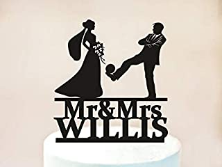 Wini2342ckey Wedding Cake Topper,Soccer Football, Soccer Players Wedding,Football Players Wedding,Soccer Cake Topper,Football Cake Topper