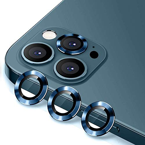 Camera Lens Protector for iPhone 12/Mini/Pro/Pro Max, Tempered Glass Lens Screen Cover Film for iPhone 12 Pro Max Pacific Blue