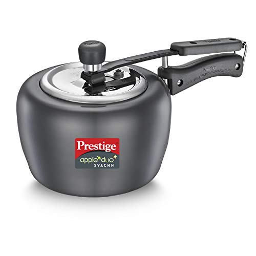 Prestige Apple Duo Plus Svachh Hard Anodised Pressure Cooker, 2.0...