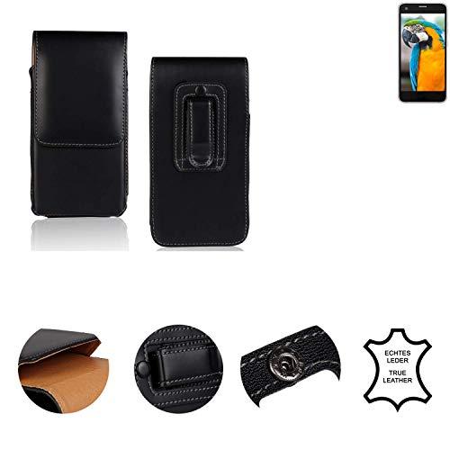 K-S-Trade® Holster Gürtel Tasche Für Vestel V3 5040 Handy Hülle Leder Schwarz, 1x