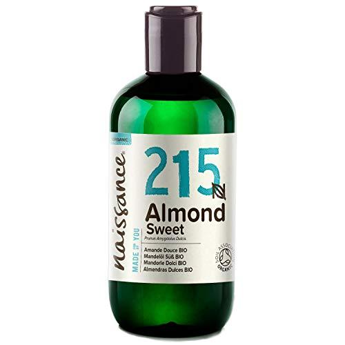 Naissance Mandelöl süß BIO (Nr. 215) 250ml – 100% rein & natürlich, BIO zertifiziert, kaltgepresst, vegan, hexanfrei, gentechnikfrei Ideal für Massagen, Haut- und Haarpflege.
