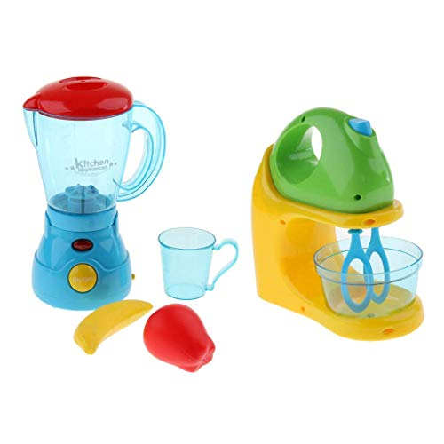 DJY-JY 2 unids Play Play Appliances de Cocina Blender & Juicer Playset Toy Kids Pretend Kit de Cocina niños 3 años
