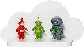 Barns molnhylla, hylla för små leksaker, böcker, hylla för leksaker, barnrum, trähylla, väggdekoration för barnrum, dekora...
