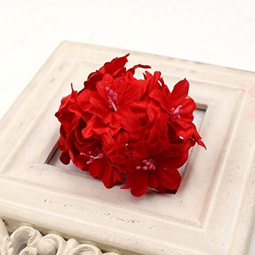 Erfhj boeket met kunstbloemen, lieliebloem, kunstbloemen, gradiatief, zijde decoratie, bruiloft, slinger, kunstbloem