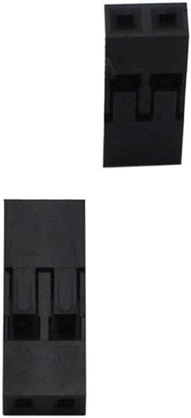 Qita 2,54 mm Dupont Jumper Sertir Connecteur Housing connecteur 1x2pin 25 Pack