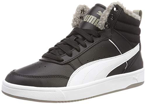 Puma Unisex Rebound Street V2 FUR JR Hohe Sneaker, Schwarz Black White-Elephant Skin 04, 37.5 EU