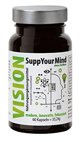 Pflanzlicher Gedächtnis Booster zur Leistungssteigerung, Aufmerksamkeit, Konzentration und Gedächtnis | 100% Vegan mit natürlicher Power aus Ginseng, Ginko und Cholin | OHNE KOFFEIN