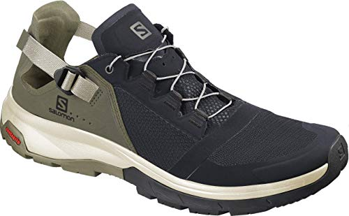 Salomon Tech Amphib 4, Walking Shoe Mens, Ebony/Mermaid/Vanilla Ice