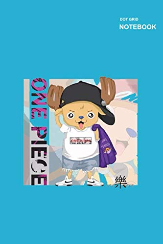 Dots Grid Notebook: 110 College Ruled Paper, Notebook Dotted Grid, (6 x 9 inches) Large, Chopper Anime One Piece Notebook Cover.