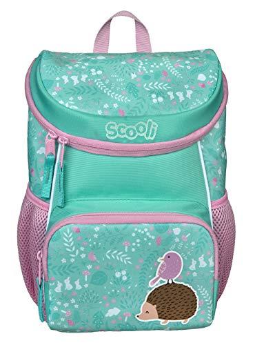 Scooli Kindergartenrucksack mit Abnehmbarer Brustgurt I Ergonomischer Vorschulrucksack für die Kita I für Mädchen und Jungen I viel Stauraum geringes Gewicht, rosa