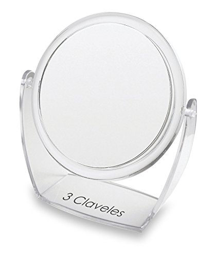 3 Claveles 11977 Miroir grossissant avec Base, diamètre de 13 cm – 1 x 5 x