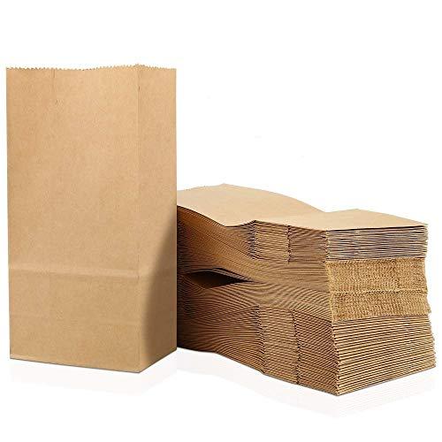100 piezas Bolsas de Papel Regalo 9 x 16 x 5 cm - Bolsa Biodegradable Regalos Comunión para Invitados o para Guardar Comida, Semillas Flores, Dulces, Chuches, Pan - Bolsitas Kraft Marrón