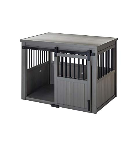 New Age Pet ECOFLEX Homestead Sliding Barn Door Furniture Style Dog Crate-Grey, Extra Large (EHDBC15-05XL)