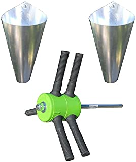 Power Plucker Feather Remover + TWO Medium Restraining Cones Chicken Poultry Processing
