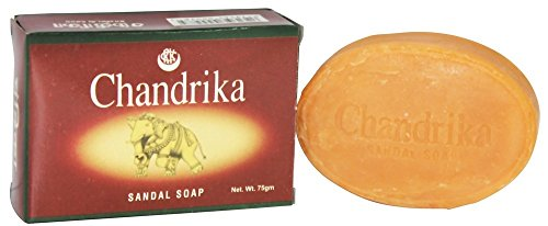 Chandrika Sandale Bar Seife, 75 Gramm - 6 pro Fall.