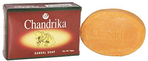 Chandrika Sandal Bar Soap, 75 Gram - 6 per case.
