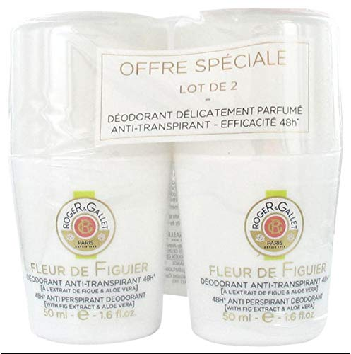 Roger & Gallet Desodorante antitranspirante 48H Fleur de Figuier 2 x 50 ml