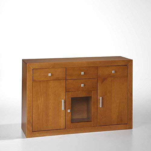 baratos y buenos PLACA LATERAL Dogar 3 puertas, 4 cajones tamaño 86X130X42.  (Alto / Ancho / Fondo) Pino liso… calidad