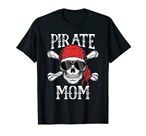 Pirat Mama Jolly Roger Familie Matching T-Shirt