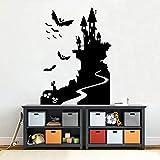 wukongsun Happy Halloween Bat Castle Wandaufkleber Vinyl Familie Party Dekoration Design Applique...