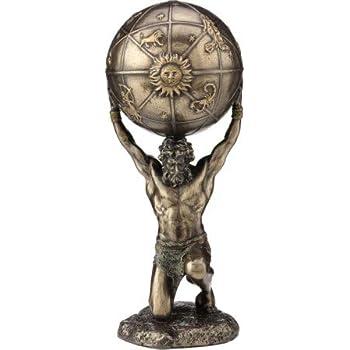 Atlas Statue Figurine-Atlas exploitation Heavens Par Veronese Statue Design Bo/îte /à bijoux