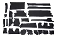 ホンダ 新型ステップワゴン RP型 白 専用設計 インテリア ドアポケット マット ドリンクホルダー 滑り止め ノンスリップ 収納スペース保護 ゴムマットHONDA Step wgn