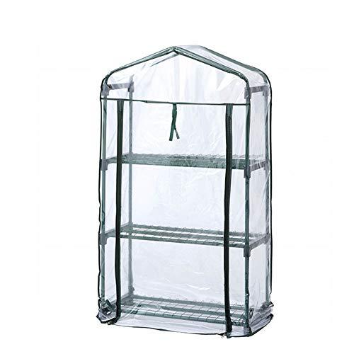 HWL PVC Transparente de Efecto Invernadero, para Cultivar Plantas en Macetas, Hierbas, Plántulas, Flores, Jardinería Interior o Exterior en Cualquier Época del Año