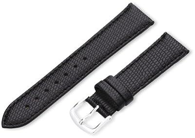 Hadley-Roma 18mm 'Women's' Leather Watch Strap, Color:Black (Model: LSL725RA 180)