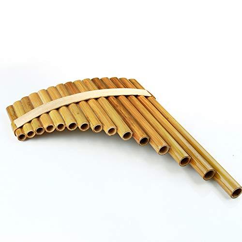 YYMM 15 Tuberías Pan Flaute, Clave Clave Instrumentos Musicales Chinos Original, Instrumento de Viento de Madera Tradicional marrón, para Todos