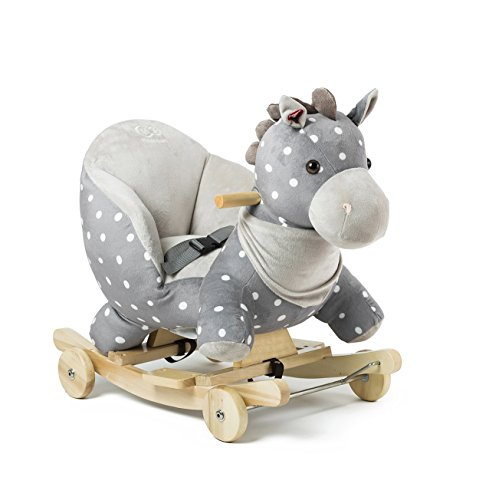 Niño Fuerza caballo balancín columpio balancín Animales con ruedas juguete de peluche