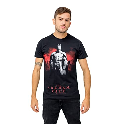 Camiseta Sideway Batman Arkham City - Preto