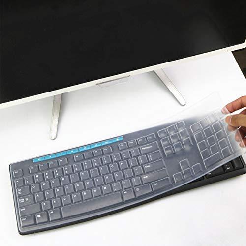 ibasenice Silikon Tastaturabdeckung - Staubdichte Dünne Desktop Pc Silikon Klare Tastatur Abdeckung Filmschutz Kompatibel für Mk270 K260 K270 Mk200 Mk260 Drahtlose Tastatur