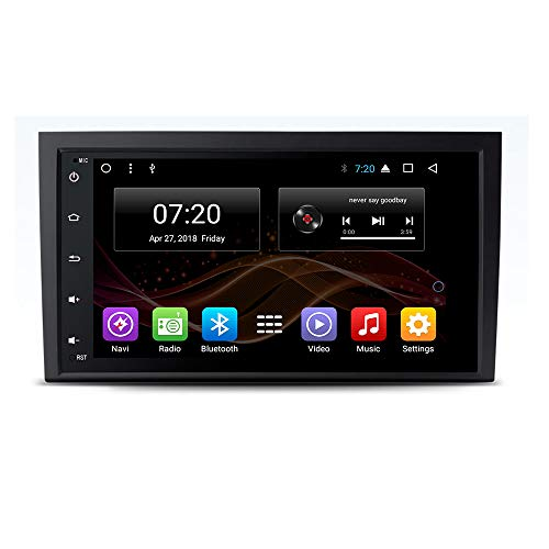 2.5D IPS Android 7.1/8.1 Octa Core Car DVD Radio GPS Navigation for Audi A4 S4 B6 B7/RS4 Seat Exeo 2002-2012 Stereo Audio Navi Video with Bluetooth Calling WiFi Touch Screen