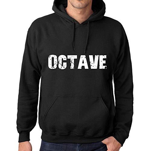 One in the City Homme Femme Unisex Sweat à Capuche Imprimé en Coton Hoodie Sweatshirt Manches Popular Words Octave Noir Profond
