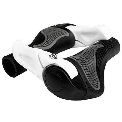 Beautyshow 1 Paar Lenkergriffe Fahrrad Fahrradgriffe, Fahrradlenkergriffe Griff Fahrrad Fahrradgriff Ergonomisch Griffe Lenkergriffe Rutschfeste Weiche Handgriffe für Mountainbike Radfahren (Weiß)