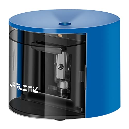 JARLINK Electric Pencil Sharpener with Auto Feature, Durable and Portable Pencil Sharpener for School Classroom, Home, Office, Studio (Batteries Not Included), Blue